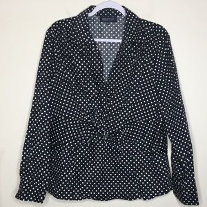 🌿JONES NEW YORK🌿 BLACK Polka Dotted blouse 2X